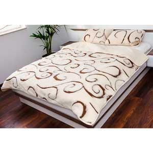 Manta 100% cachemir para cama de matrimonio color beis